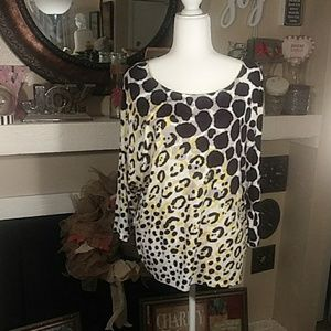Rudy Road extra large black yellow and white top